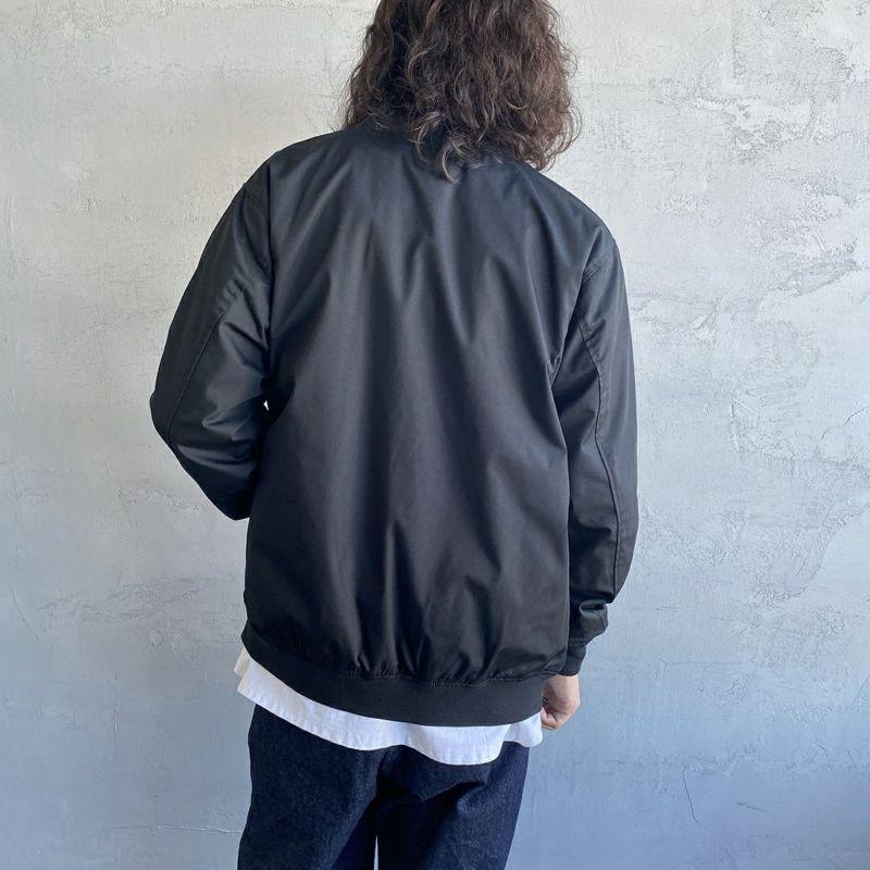 The Endless Summer [エンドレスサマー] 別注 ワンポイント刺繍ジャケット [FH-1774507-JF] 01 BLACK&&モデル身長:173cm 着用サイズ:L&&