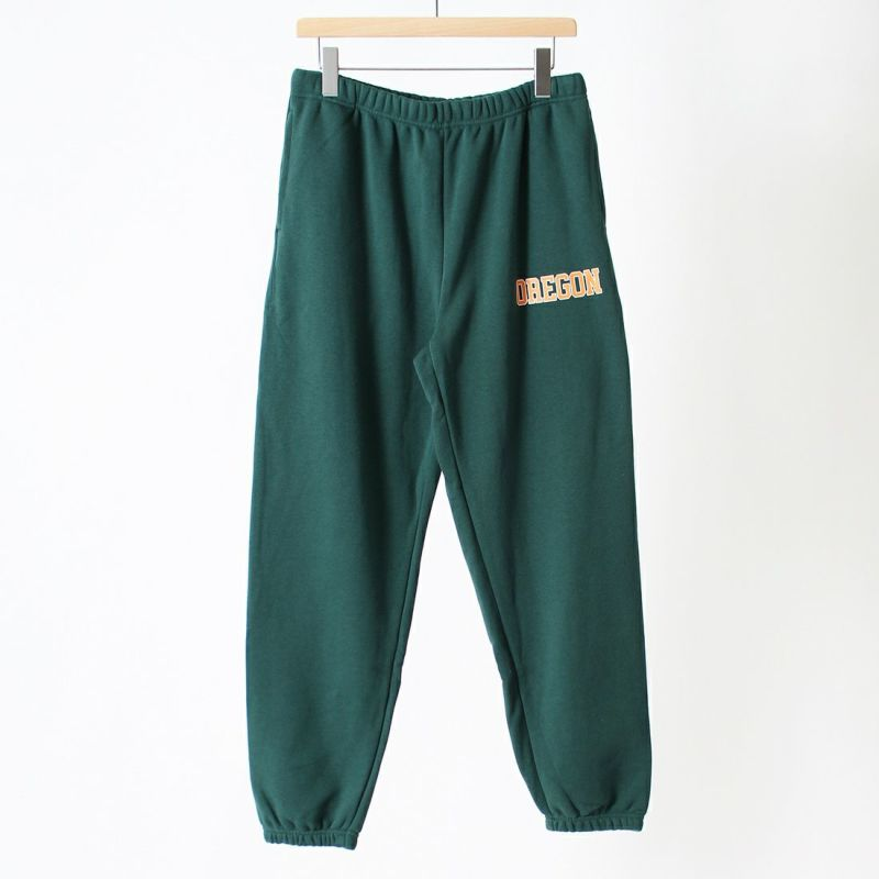 RUSSELL ATHLETIC [ラッセル アスレチック] 別注カレッジプリントスウェットパンツ [RC-21744IN-JF] FOREST