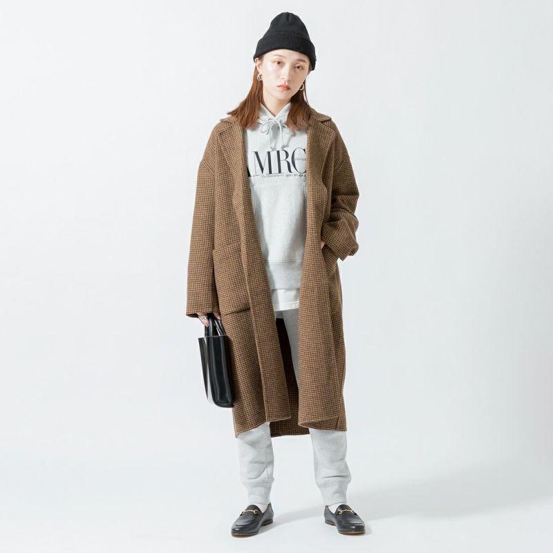 Jeans Factory Clothes [ジーンズファクトリークローズ] ウールダブルフェイスオーバーコート [8514151-02] CDR &&モデル身長:160cm 着用サイズ:F&&