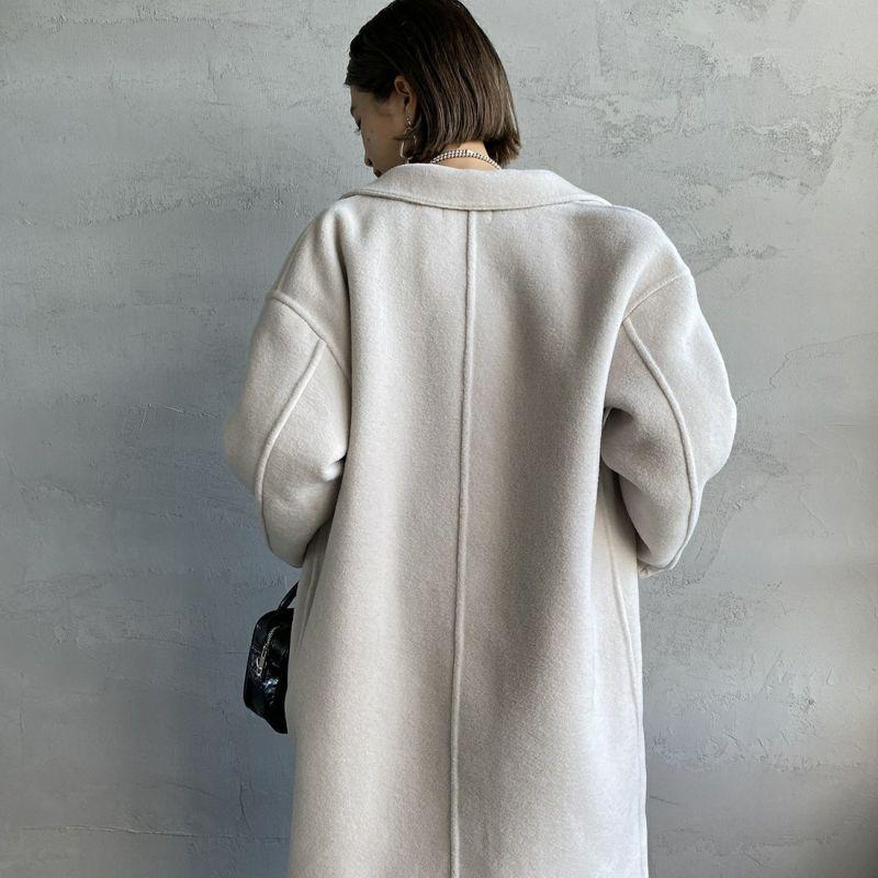 Jeans Factory Clothes [ジーンズファクトリークローズ] ウールダブルフェイスオーバーコート [8514151-02] GYJ &&モデル身長:163cm 着用サイズ:F&&