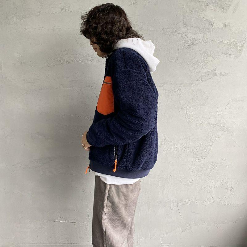 UNIVERSAL OVERALL [ユニバーサルオーバーオール] 別注 ボマージャケット [U2131400IN-JF] NAVY &&モデル身長:173cm 着用サイズ:M&&