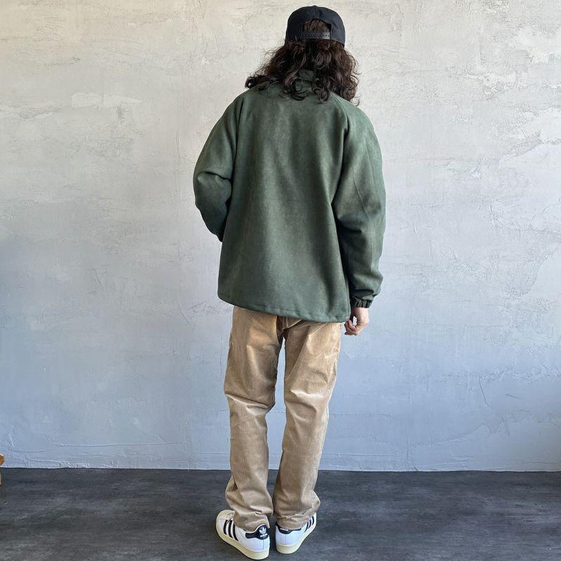 HELLO CALIF [ハローカリフ] フェイクスウェードコーチジャケット [HC-214-077] GREEN&&モデル身長:173cm 着用サイズ:M&&