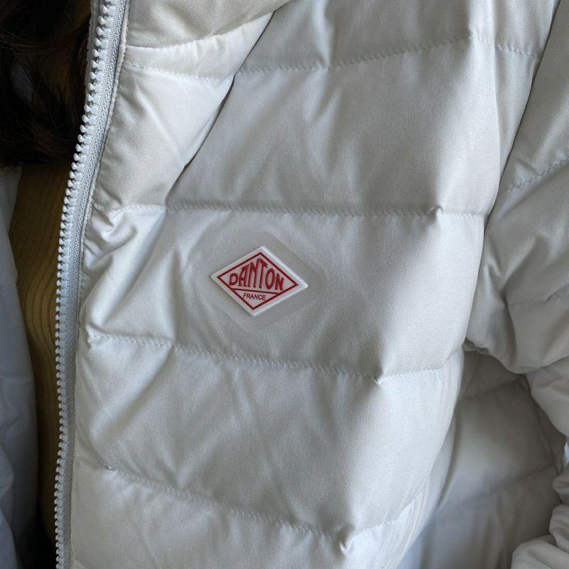 DANTON [ダントン] ナイロンストレッチタフタ フード付きライトダウンジャケット [DT-A0004MNT] ICE GREY