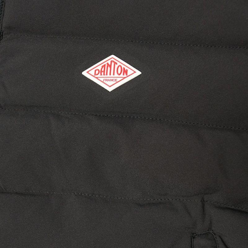 DANTON [ダントン] ナイロンストレッチタフタ フード付きライトダウンジャケット [DT-A0004MNT] BLACK