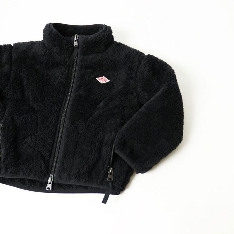 DANTON [ダントン] ハイパイルフリース スタンドカラージャケット [DT-A0051HPF] BLACK