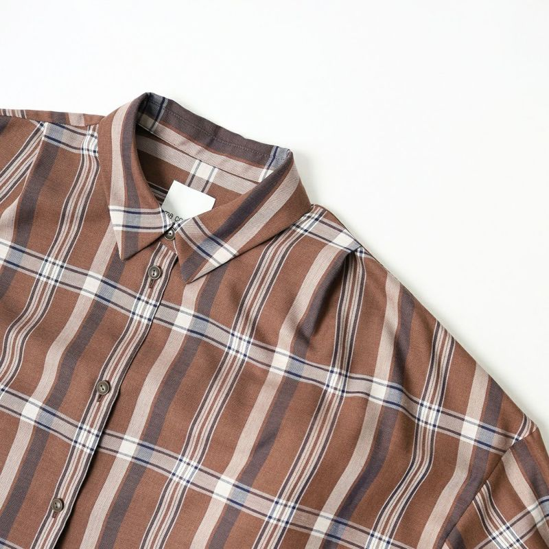 ma couleur [マ クルール] ビッグチェック オーバーシャツ [J-4181] 830 ブラウン