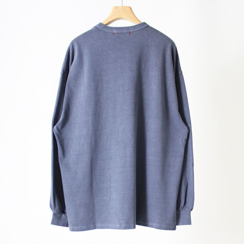 HELLO CALIF [ハローカリフ] ピグメントリメイクポケットロングスリーブTシャツ [613413] NAVY