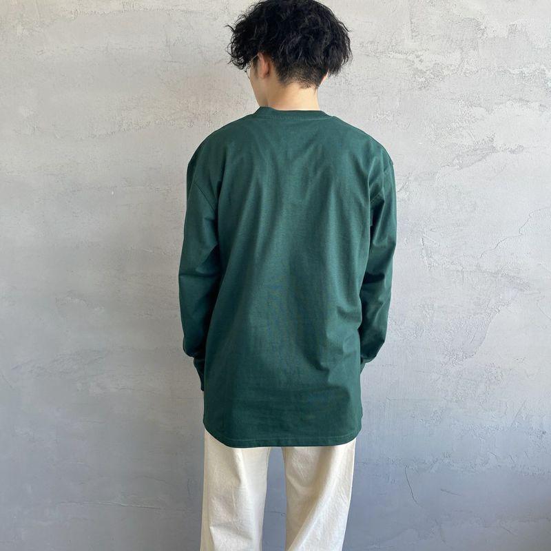 carhartt WIP [カーハートダブリューアイピー] ロングスリーブアメリカンスクリプトTシャツ [I029955] OFFROAD&&モデル身長:173cm 着用サイズ:L&&