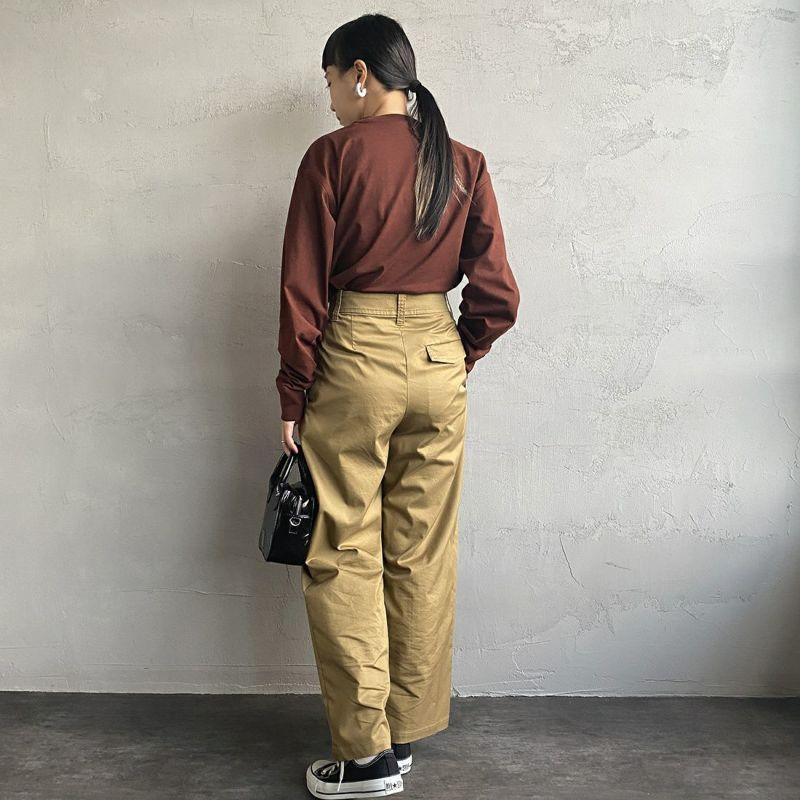 carhartt WIP [カーハートダブリューアイピー] ロングスリーブアメリカンスクリプトTシャツ [I029955] OFFROAD&&モデル身長:156cm 着用サイズ:S&&